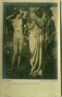 M. DENIS - PSYCHE' APPARAIT A L'AMOUR - DETAIL - NAKED WOMEN  - PHOTO E. DRUET - RPPC POSTCARD 1910s (BG66) - Paintings