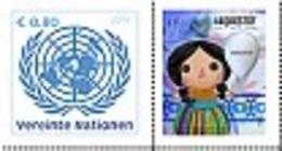 2018 - O.N.U./UNITED NATIONS - WIEN - FRANCOBOLLO DA FOGLIO FRANCOBOLLI PERSONALIZZATI - UNODC - BLUE HEART CAMPAIGN.MNH - Vienna - Ufficio Delle Nazioni Unite