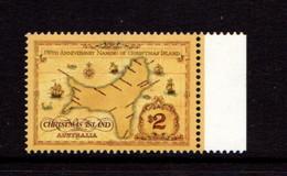 CHRISTMAS  ISLAND   1993    Map  Of  Christmas  Island    MNH - Christmas Island