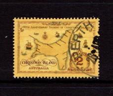 CHRISTMAS  ISLAND   1993    Map  Of  Christmas  Island    USED - Christmas Island