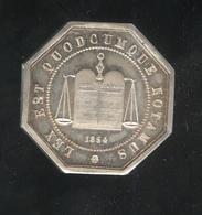 Jeton Chambre Des Notaires De L'Arrondissement D' Amien - 1854 - SUP - Professionnels / De Société