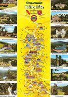1 Map Of Germany * 1 Ansichtskarte Mit Der Landkarte - Schwarzwaldhochstraße Von Baden-Baden Bis Freudenstadt * - Landkarten
