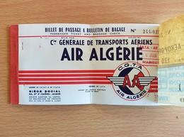 ALGERIE Compagnie Générale De Transport AIR ALGERIE 26/06/1956 Billet ALGERIE-MARSEILLE - Billets D'embarquement D'avion