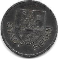 Notgeld  Siegen 50 Pfennig 1918 Fe 12511.6 - Alemania