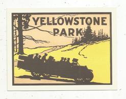Autocollant , Sticker , Automobile , YELLOWSTONE PARK - Autocollants