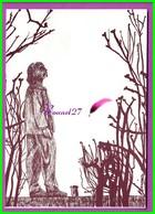 CPM - 1980 L'Année FLAUBERT Gustave - 10. Statue De Flaubert à Trouville - Dessin De Marina D'après Photo S. Sochon - Philosophie & Pensées