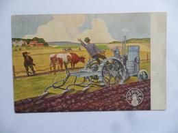 """(Carte Publicitaire - Agriculture....)  - TRACTEUR """" AVANCE '  (Moteur Suédois....!!)......voir Scans - Tracteurs"""