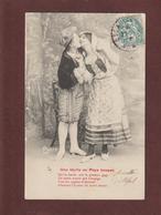 Carte . Une Idylle Au PAYS BASQUE -  Carte écrite Vers 1900/24  Pour  ESCAUDOEUVRES . Nord  - 2 Scannes - Costumes