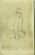 A. MAILLOL . ETUDE DE NU - DESSIN  - PHOTO E. DRUET - RPPC POSTCARD 1910s (BG69) - Peintures & Tableaux