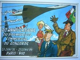 Avion / Airplane / AIR FRANCE / Concorde / Paris - Rio De Janeiro / 1976-1996 - 1946-....: Ere Moderne