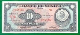 Mexico 10 Pesos 1961 P58h AUNC - Mexico