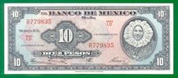 Mexico 10 Pesos 1961 P58i AUNC - Mexico