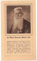 LE PERE DANIEL BROTTIER PRIERE POUR OBTENIR LA BEATIFICATION IMAGE PIEUSE RELIGIEUSE HOLY CARD SANTINI HEILIG PRENTJE - Imágenes Religiosas
