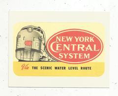 Autocollant , Sticker , Chemin De Fer , Train, New York Central System ,via The Scenic Water Level Route - Autocollants