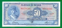 Mexico 50 Pesos 1961 P49n VF+ - Mexique