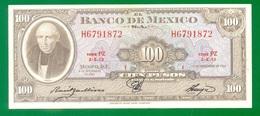 Mexico 100 Pesos 1961 P61a XF+ - Mexico