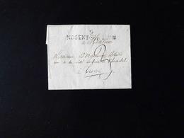 LETTRE DE NOGENT SUR SEINE POUR TROYES  -  1818  - - Storia Postale