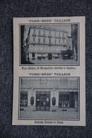 """Publicité - MONTPELLIER, """" PARIS MODE """", Tailleur, 10 Place MOLIERE, Derrière Le Théâtre. - Publicités"""