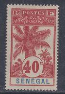 Sénégal  N° 40 X Type Palmiers : 40 C. Rouge Sur Gris Trace De Charnière  Sinon TB - Unused Stamps