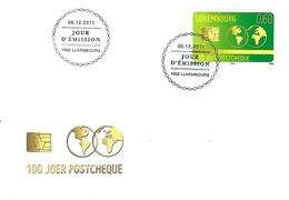 FDC  -  6.12.2011    JOUR D'EMISSION   100 JOER POSTCHEQUE - FDC