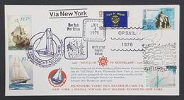 1976 Cover, Special Voyage Den Helder-Plymouth-New York, Amsterdam, Ships , Nederland, Netherlands, Holland, Pays Bas - Briefe U. Dokumente