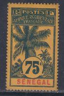 Sénégal  N° 43 X Type Palmiers :75 C. Bleu Sur Jaune-orange Trace De Charnière  Sinon TB - Unused Stamps