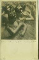 E. DEGAS - DANSEUSES S'AGRAFANT - PHOTO E. DRUET - RPPC POSTCARD 1910s (BG73) - Peintures & Tableaux