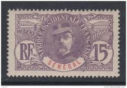 Sénégal  N° 35 X Partie De Série Général Faidherbe : 15 C. Violet Trace De Charnière Sinon TB - Unused Stamps