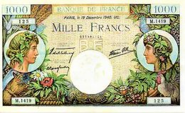 Reproduction Du Billet - 1871-1952 Frühe Francs Des 20. Jh.