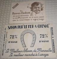 Buvard 21.8 X 13.3 Savon Pur LE FER A CHEVAL Huileries A. ROUX & Savonneries J.-B. PAUL à Marseille - Parfums & Beauté