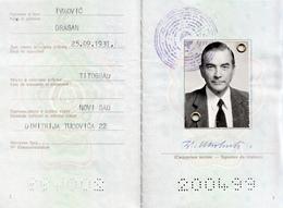 PASSPORT YUGOSLAVIA - VISA GREECE , SINGAPORE , MALTA - Documenti Storici