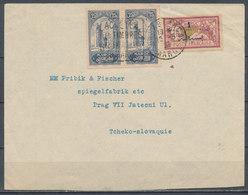 MAROC - 1923, Cover From CASABLANCA To PRAG (Tchecoslovaquie) - Morocco (1891-1956)