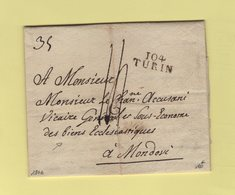 Turin - 104 - 1806 Pour Le Vicaire General Des Biens Eclesiastiques - Departement Conquis Du Po - 1792-1815: Conquered Departments
