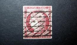 FRANCE 1849 N°6 OBL. GRILLE SANS FIN (CÉRÈS. IIÈME RÉPUBLIQUE. 1F CARMIN FONCÉ. LÉGENDE REPUB FRANC. NON DENTELÉ) - 1849-1850 Cérès