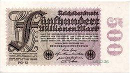 500 Millions Mark 1923 Neuf - [ 3] 1918-1933: Weimarrepubliek