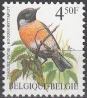 Belgique 1990 COB 2397 Neuf ** Cote (2016) 1.50 Euro Oiseau Traquet Pâtre - Belgique