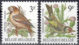 Belgique 1985 COB 2189 - 2190 Neuf ** Cote (2016) 1.50 Euro Oiseaux Gros-bec & Chardonneret - Belgique