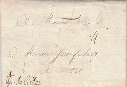 France Spanish Netherlands Belgique Entire Lettre Entier 1709 Paris Pour Anvers Antwerpen (s67) - 1701-1800: Precursores XVIII