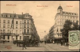BRUXELLES : Bd Du Nord / Hôtel Cécil / Calèches - Monumenten, Gebouwen