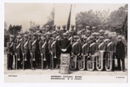 AK42 Photograph - Grimsby Citadel Band, Bandmaster W.G. Friday - Identified Persons