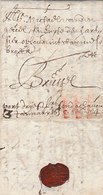 Belgique Belgium Spanish Netherlands Porto Entire 1655 Antwerpen Anvers To Bruxelles Brussels (s68) - 1621-1713 (Pays-Bas Espagnols)