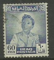 Iraq - 1948 King FaisaI II  60f  Used   SG 291  Sc 124 - Iraq