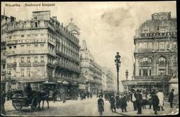 BRUXELLES : Bd Anspach  / Animée / TRAM - Monumenten, Gebouwen