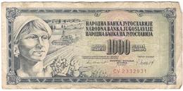 Yugoslavia 1000 Dinara 1981 (3) P-92d /010B/ - Jugoslawien