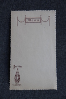 MENU Vierge - PERRIER - Menus