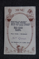 MENU , LE CHAMBON Le 4 Juin 1929. - Menus