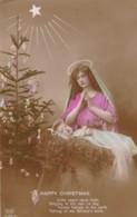 AQ51 Greetings - Happy Christmas - RPPC - Christmas