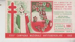 Libretto XXIII° Campagna Nazionale Francobollo Antitubercolare. 1960  Federazione Italiana Contro La Tubercolosi - Maladies
