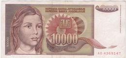Yugoslavia 10000 10.000 Dinara 1992 (3) P-116b /010B/ - Jugoslawien