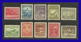 1939 - Ecuador - Sc. 377 - 371 + C 65 - C 69 - MNH - EC- 012 - 03 - Magnifica Serie Completa - Ecuador
